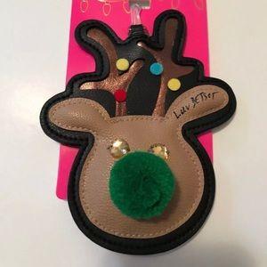 Luv Betsey reindeer luggage tag
